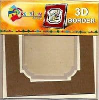 Creation By TBZ Card Making Decoupage 3D Border Mount  521137